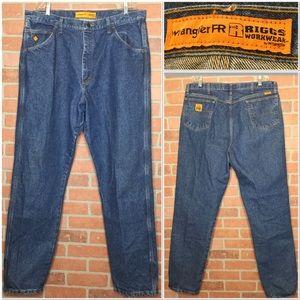 Wrangler FR Mens Jeans work 40 x 36 (3E52)